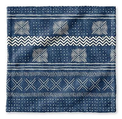 Union Rustic Dalton Symmetry Geometric Cloth Washcloth; Indigo