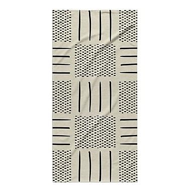 Union Rustic Dalton Symmetry Geometric Cloth Bath Towel ; Ivory