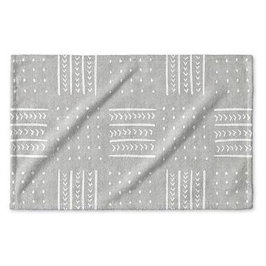 Union Rustic Dalton Symmetry Geometric Cloth Hand Towel w/ Single Sided Print; Gray