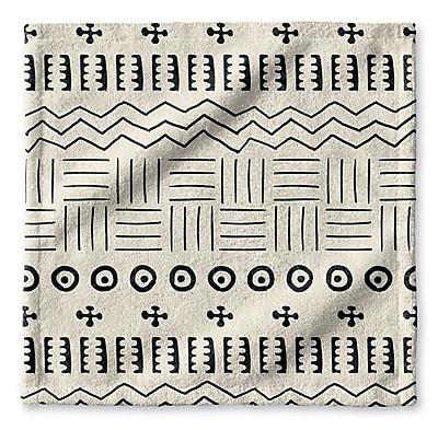Union Rustic Dalton Symmetry Geometric Cloth Washcloth w/ Single Sided Print; Ivory