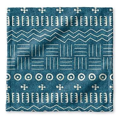 Union Rustic Dalton Symmetry Geometric Cloth Washcloth w/ Single Sided Print; Teal