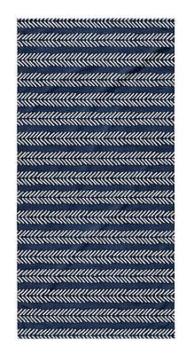 Union Rustic Dalton Geometric Cloth Bath Towel w/ Single Sided Print; Indigo