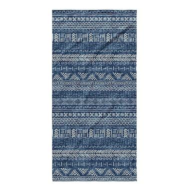 Union Rustic Dalton Geometric Cloth Bath Towel; Indigo
