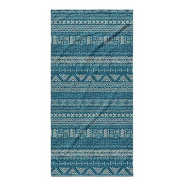 Union Rustic Dalton Geometric Cloth Bath Towel; Teal