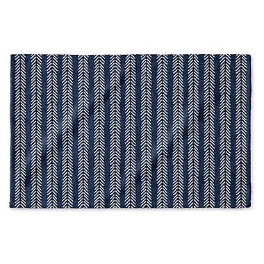 Union Rustic Dalton Symmetry Cloth Hand Towel w/ Single Sided Print; Indigo