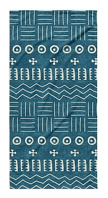 Union Rustic Dalton Symmetry Cloth Bath Towel w/ Single Sided Print; Teal