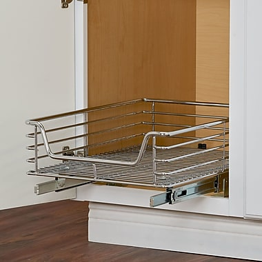 Rebrilliant Deep Sliding Pull Out Drawer; 7.75'' H x 14.5'' W x 21'' D