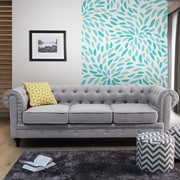 Rosdorf Park Brondesbury Chesterfield Sofa; Light Gray