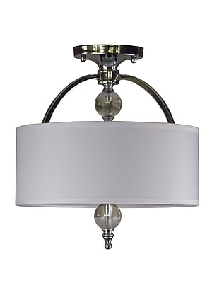 Rosdorf Park Brooklana 2-Light Semi Flush Mount