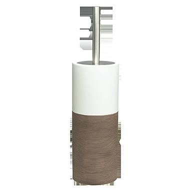 Sealskin Doppio Free Standing Toilet Brush and Holder; Brown