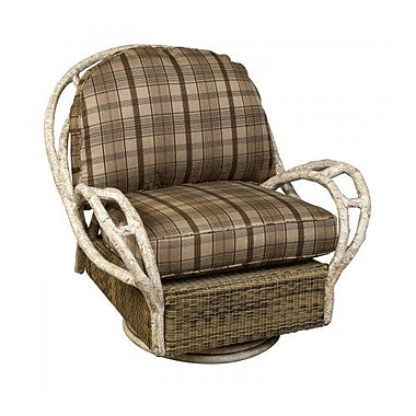 Woodard River Run Butterfly Swivel Patio Chair w/ Cushion; Canvas Iris