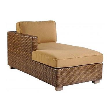 Woodard Sedona Left Arm Facing Chaise Lounge w/ Cushion; Brisa Distressed Chamois