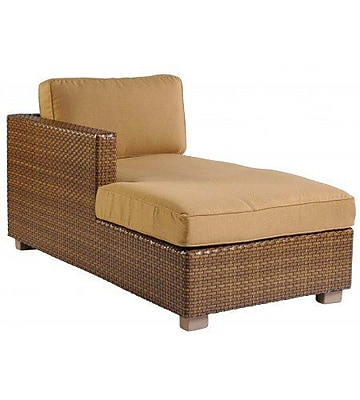 Woodard Sedona Left Arm Facing Chaise Lounge w/ Cushion; Summit Peony