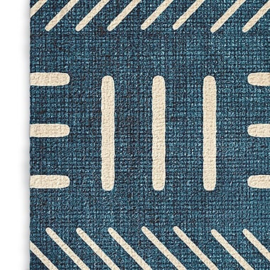 Union Rustic Grosso Blue Area Rug; Rectangle 5' x 7'