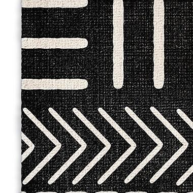 Union Rustic Botti Black Area Rug; Rectangle 8' x 10'