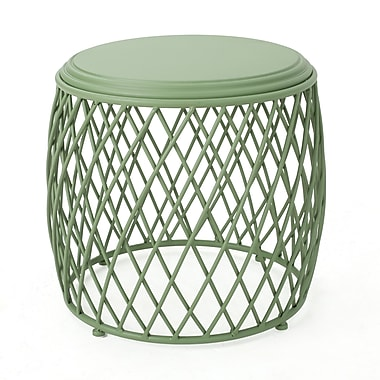 Varick Gallery Rand Indoor Iron End Table; Green