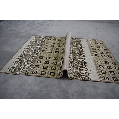Varick Gallery Quinney Ivory Area Rug; Rectangle