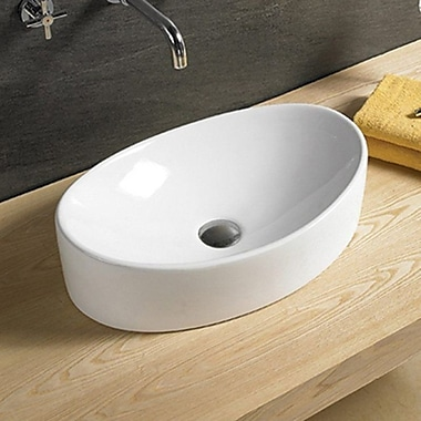 Vanitesse Ceramic Oval Vessel Bathroom Sink