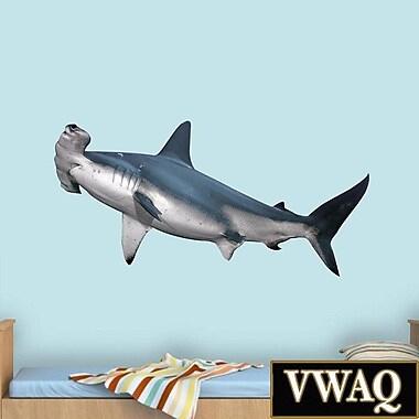 VWAQ Hammerhead Shark Realistic Wall Decal; 24'' H x 48'' W x 0.01'' D