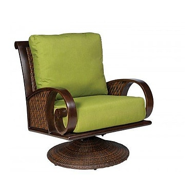 Woodard North Shore Swivel Rocking Lounge Chair w/ Cushions; Bazaar Caf