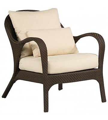 Woodard Bali Patio Chair w/ Cushions; Summit Peony