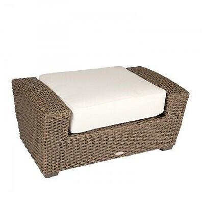 Woodard Augusta Ottoman w/ Cushion; Brisa Distressed Dove Gray