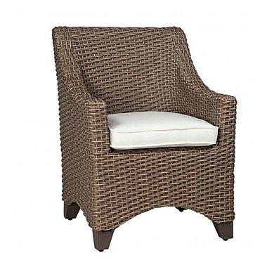 Woodard Augusta Patio Dining Chair w/ Cushion; Paris Honeydew