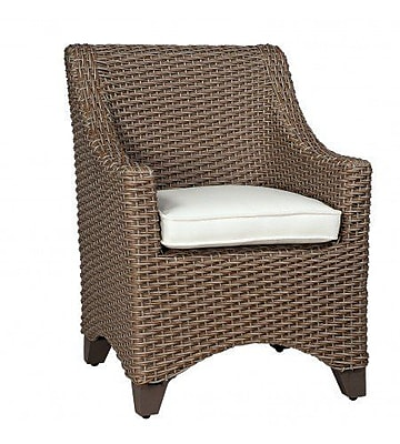 Woodard Augusta Patio Dining Chair w/ Cushion; Brisa Distressed Charcoal