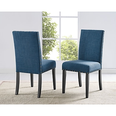 Brassex Indira Dining Chair with Nail-Head Trim