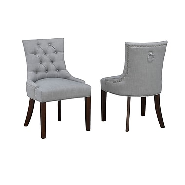 Brassex Accent Chair with Nail-Head Trim