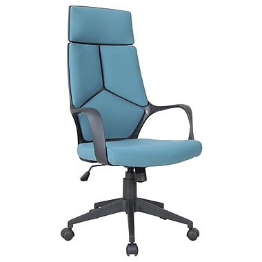 Brassex Adjustable Office Chair with Gas Lift (898-BL)