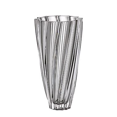 Red Vanilla Scallop Table Vase; 12'' H x 6'' W x 6'' D