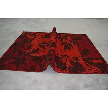 Winston Porter Humphries Wool Red Area Rug; Rectangle 4' x 6'