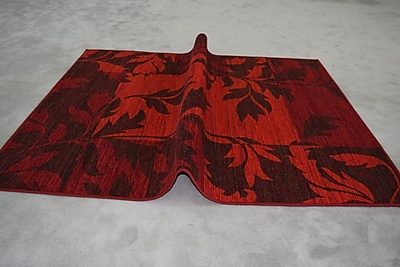 Winston Porter Humphries Wool Red Area Rug; Rectangle 2' x 3'