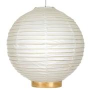 World Menagerie Buchanan Bamboo Shoji Globe Pendant; 12'' H x 12'' W x 12'' D