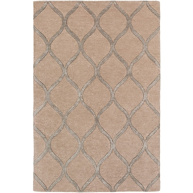 World Menagerie Massey Modern Hand-Tufted Brown Area Rug; 9' x 13'