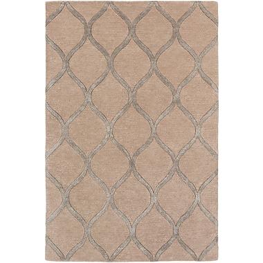 World Menagerie Massey Modern Hand-Tufted Brown Area Rug; Round 3'6''