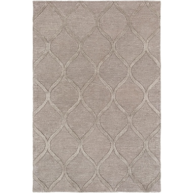World Menagerie Massey Hand-Tufted Wool Taupe Area Rug; 8' x 11'