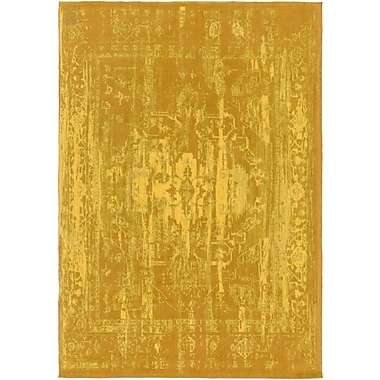 World Menagerie Mcintosh Hand Woven Gold Area Rug; Runner 2'3'' x 12'