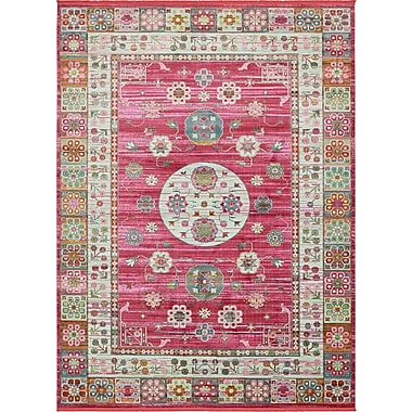 Bungalow Rose Lonerock Pink Area Rug; Rectangle 10' x 13'