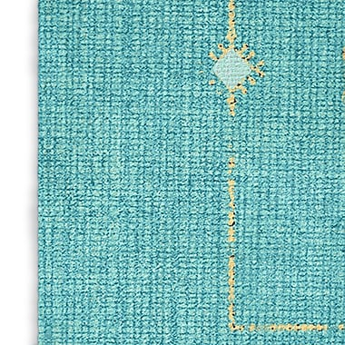 Bungalow Rose Hidden Hills Blue/Yellow Area Rug; Rectangle 8' x 10'