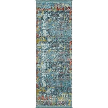 Bungalow Rose Lonerock Blue Area Rug; Runner 2'2'' x 6'