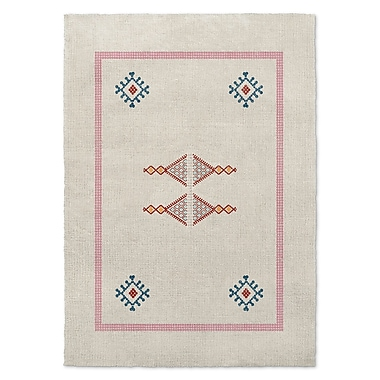Bungalow Rose Twentynine Palms Blue/Red/Pink Area Rug; Rectangle 8' x 10'