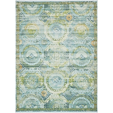 Bungalow Rose Lonerock Green/Teal Area Rug; Rectangle 10' x 13'