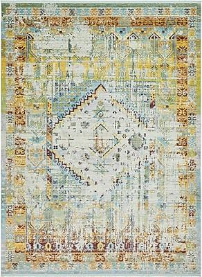 Bungalow Rose Lonerock Light Blue Area Rug; Rectangle 10' x 13'