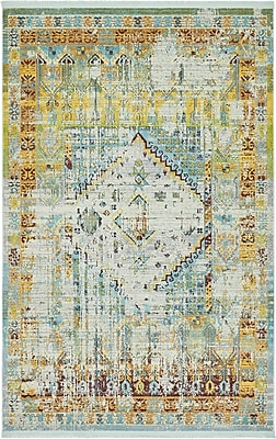 Bungalow Rose Lonerock Light Blue Area Rug; Rectangle 5'5'' x 8'