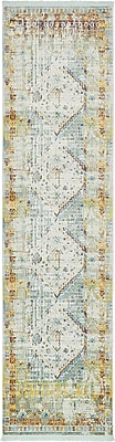 Bungalow Rose Lonerock Light Blue Area Rug; Runner 2'7'' x 10'