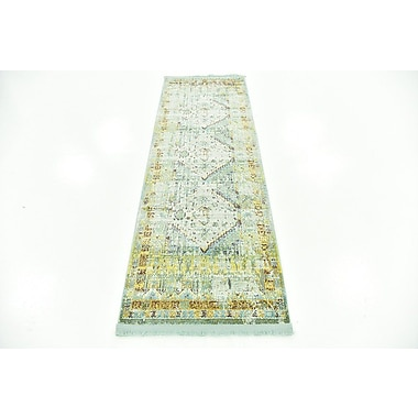 Bungalow Rose Lonerock Light Blue Area Rug; Runner 2'2'' x 6'