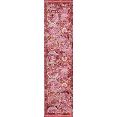 Bungalow Rose Lonerock Pink Area Rug; Runner 2'7'' x 10'