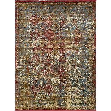Bungalow Rose Lonerock Spanish Red/Green Area Rug; Rectangle 10' x 13'
